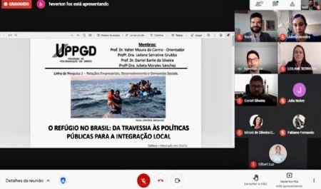 Dissertação sobre situação de refugiados no Brasil é aprovada em curso de mestrado